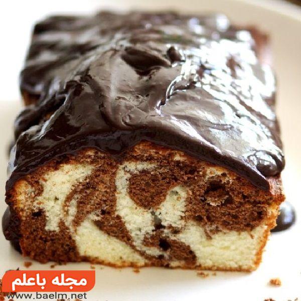 کیک با مغز نوتلا و روکش شکلات,کیک مغزدار با روکش شکلات,کیک با روکش شکلات