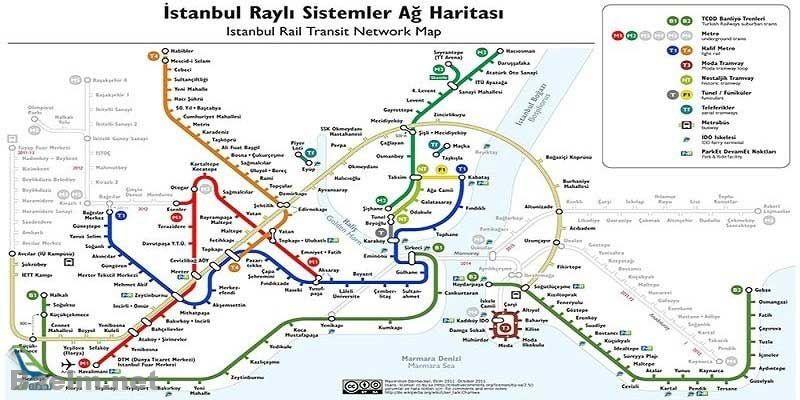 گردشگران تور ترکیه می توانند از متروی این شهر که به صورت شبانه روزی فعالیت دارد